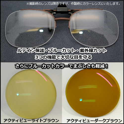 ルテイン保護機能付きサングラス・クリップオン 見本レンズ付画像2