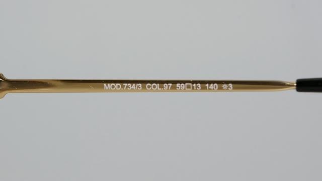CAZAL(カザール) 734/3 col.097 レジェンズモデルサングラス P-205T 品番画像