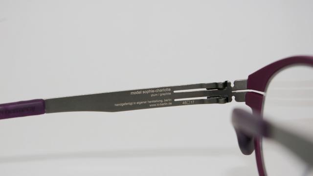 ic ! berlin  (アイシーベルリン) Sophie-Charlotte カラーGraphite-plum/purple I-101T 品番画像