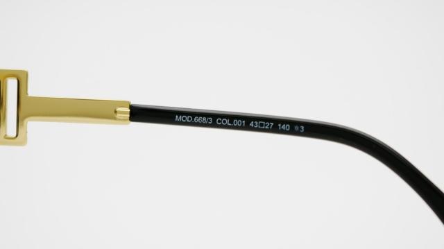 CAZAL(カザール) 668/3 col.001 レジェンズモデルサングラス P-196T 品番画像
