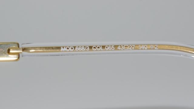 CAZAL(カザール) 668/3 col.065 レジェンズモデルサングラス P-197T 品番画像