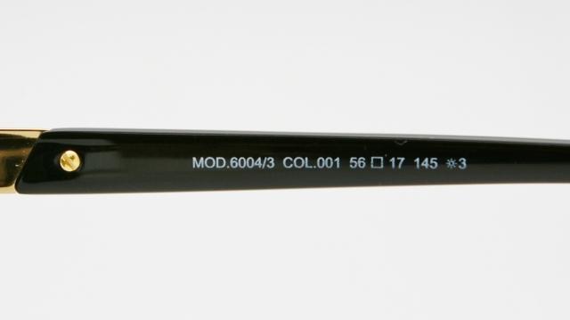 CAZAL(カザール) 6004/3 col.001 サングラス P-209T 品番画像