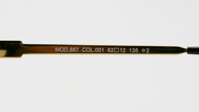 CAZAL(カザール) 887 col.001 レジェンズモデルサングラス P-241T 品番画像