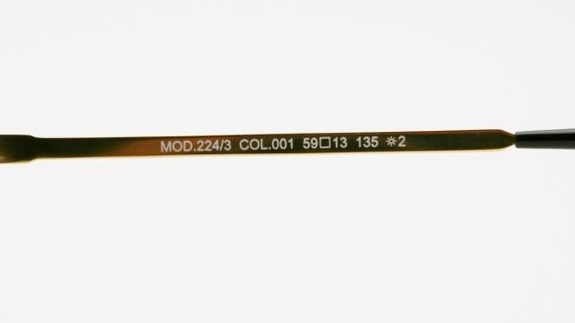 CAZAL(カザール) 224/3 col.065 レジェンズモデルサングラス P-251T 品番画像