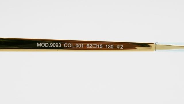 CAZAL(カザール) 9093 col.001 サングラス P-252T 品番画像